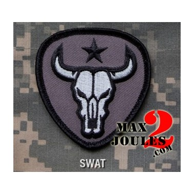 patch velcro bull skull swat
