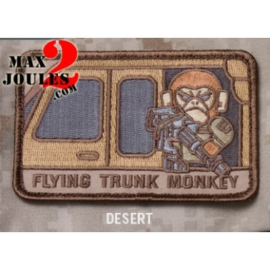 patch scratch flying trunk monkey desert