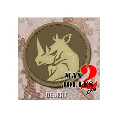 patch velcro pvc rhino head desert