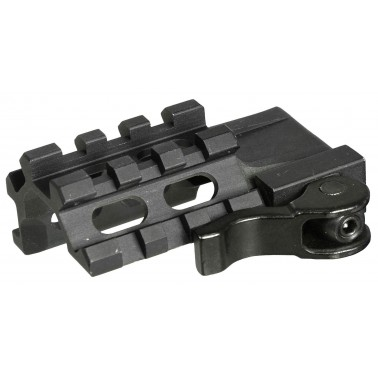 montage UTG le rated quad rail/3 slot angle mount w/ integral qd lever