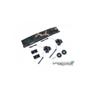 helmet rail adapter set black pour comtacI et comtac II z046