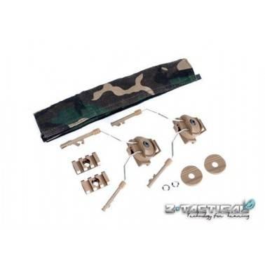helmet rail adapter set TAN pour comtacI et comtac II z046