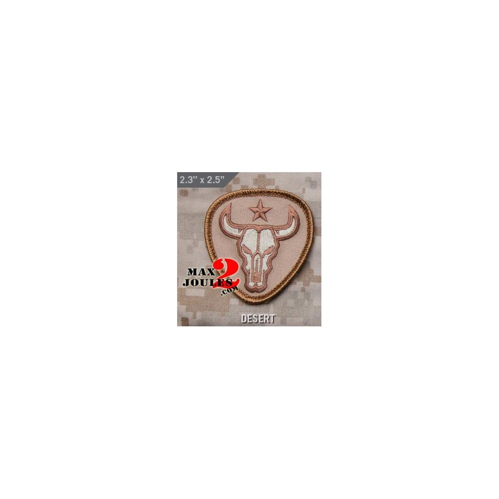 patch velcro bull skull desert