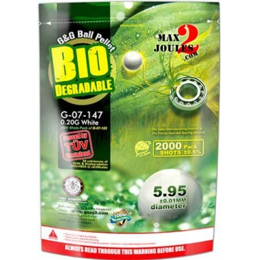 sac billes bio G&G 0.20g 5000 bb's