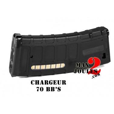 chargeur type emag noir 70bb's pour m4 m16