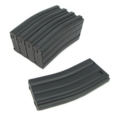 lot 5 chargeurs m4-m16 metal 68 bb's King arms ka-mag-02-v