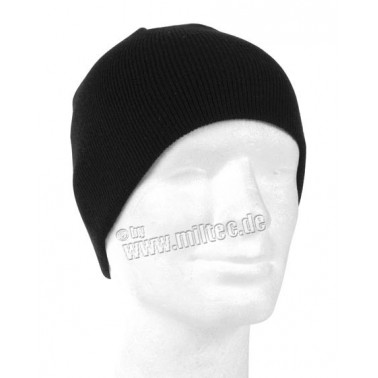 bonnet court beanie noir
