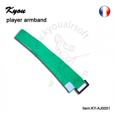 brassard reglable elastique 3.5cm vert