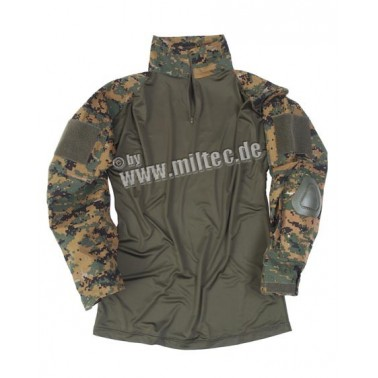 chemise de combat warrior digital woodland