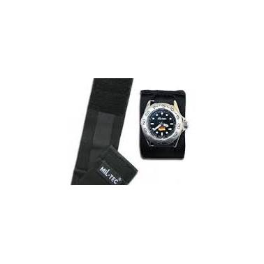 bracelet montre commando avec rabat de protection