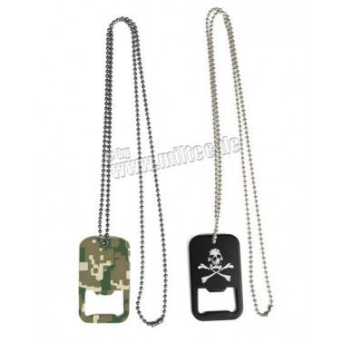 dog tag decapsuleur noir tete de pirate 16363020