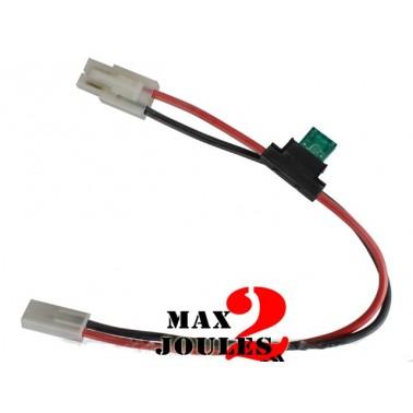 rallonge avec porte fusible pour replique electrique mk-36