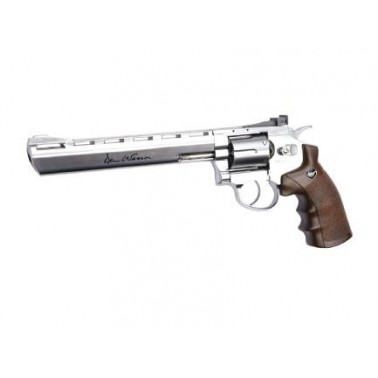 "revolver dan wesson 8"" chrome crosse type bois 17563"