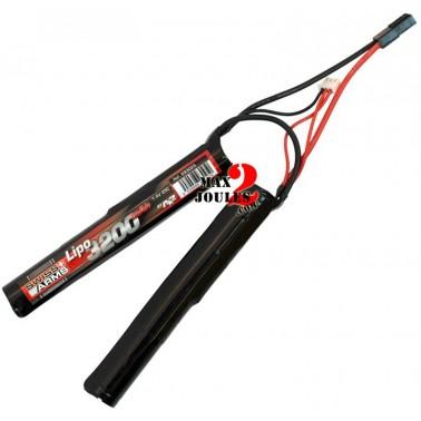 batterie lipo double stick rond 7.4v 3200mah 25c a2a 693025