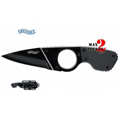couteau neckknife + etui walther 50736