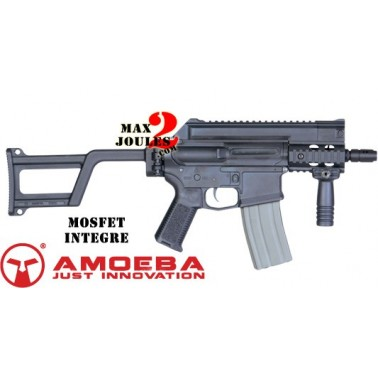 M4 ARES amoeba CCP mp5 tactical pistol avec crosse noir am-001-bk