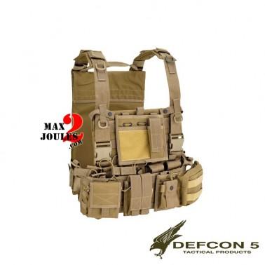 gilet de combat recon harness Tan defcon5 d5-701tac t