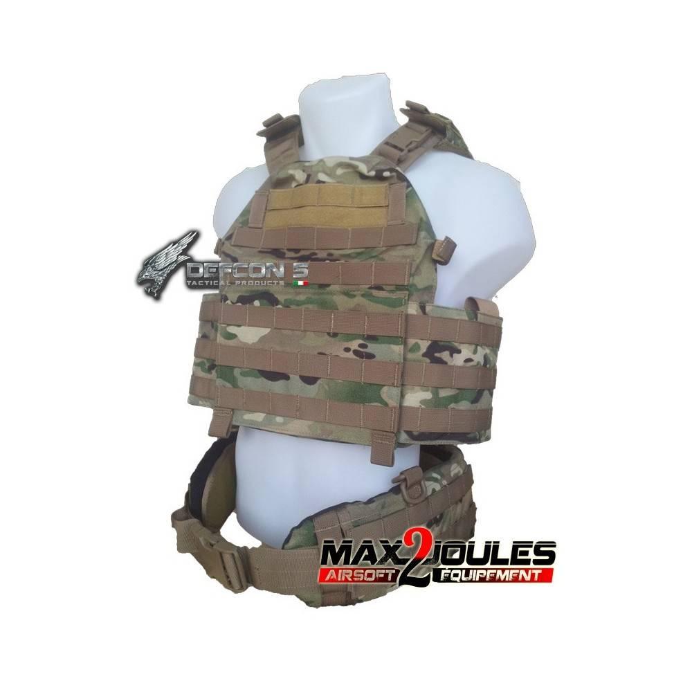 vest carrier molle + ceinture belt molle multicam defcon5 1000D d5-bav13 mc