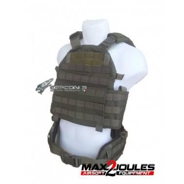 vest carrier molle + ceinture belt molle vert OD defcon5 1000D d5-bav13 od