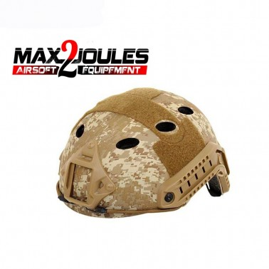casque m9 jump desert digital + rail