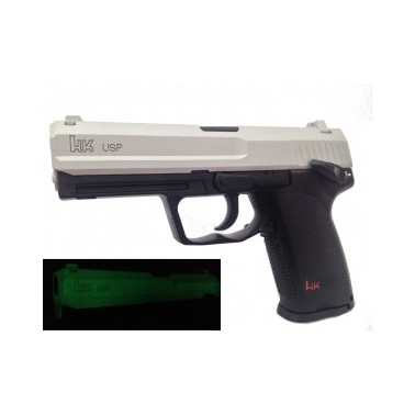 umarex hk usp co2 GNB 1j culasse chrome (culasse photo luminescente)