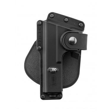 holster gaucher pour glock 17 s17 avec porte lampe tactique bo fobus ge15205