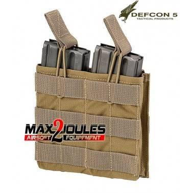 poche chargeur double coyote defcon5 pour m4 et ak d5-m4akdo ct