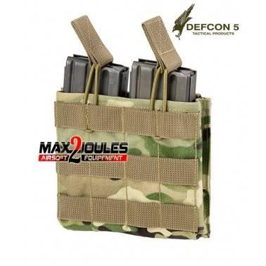 poche chargeur double multicamo defcon5 pour m4 et ak d5-m4akdo mc