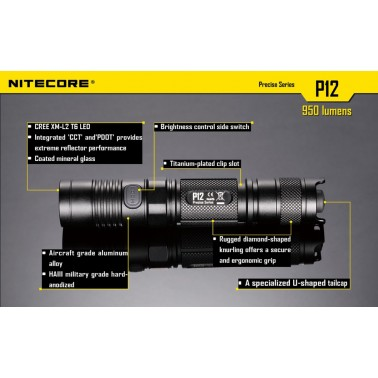 lampe Nitecore P12 950 lumens 14850