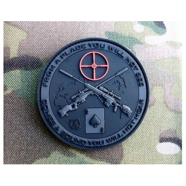 patch velcro pvc sniper blackops noir