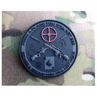 patch velcro pvc sniper blackops noir
