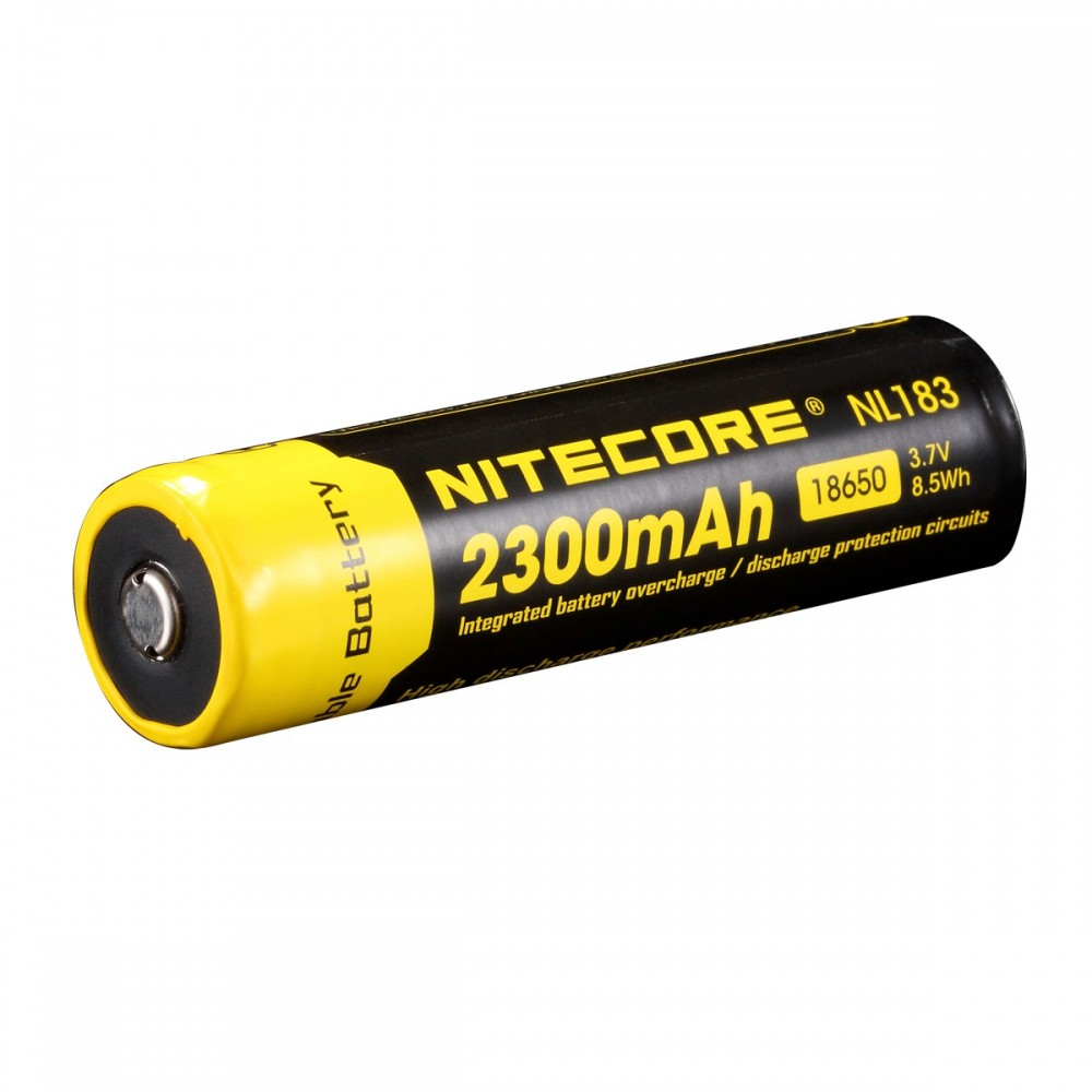 batterie rechargeable 18650 li-ion nitecore 2300mah 3.7v 8.5wh nl183