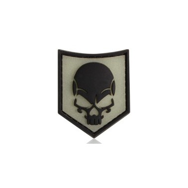 patch SOF skull rubber phosphorescent