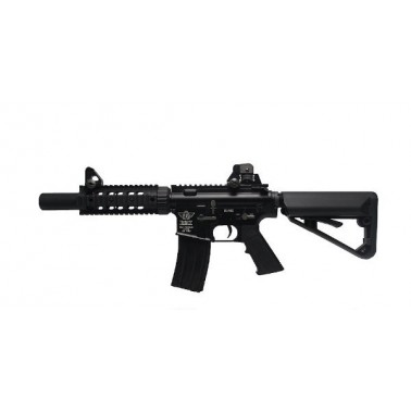 pack M4 BOLT b4tsd noir metal vrai blowback recoil shock + lipo 11.1v + patch + poignee