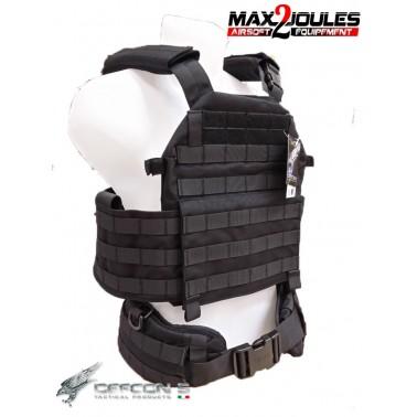 vest carrier molle + ceinture belt molle noir defcon5 d5-bav13 b