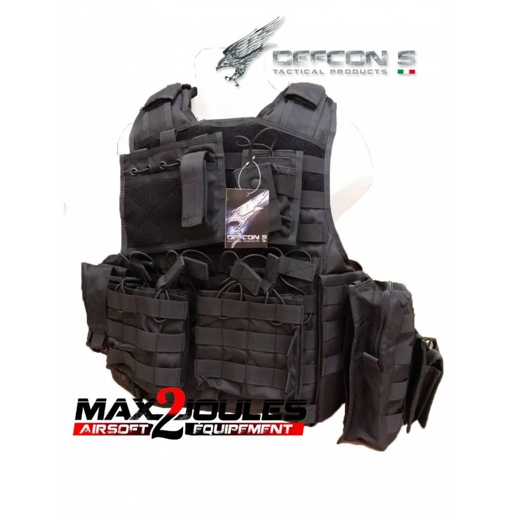 gilet armour carrier ciras noir defcon5 d5-bav06 b