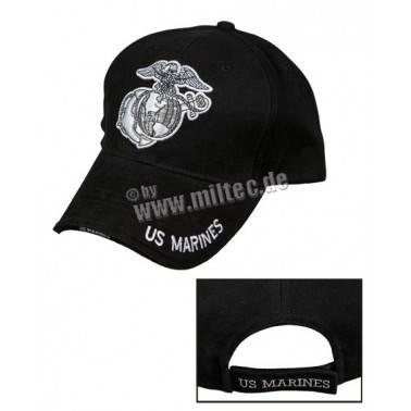 casquette luxe us marines noir baseball cap miltec