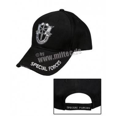casquette luxe special force noir baseball cap miltec