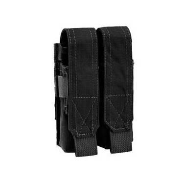 poche molle porte chargeur double 9mm noir defcon5 d5-pm02 b