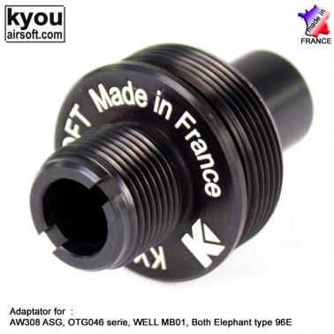adaptateur aw308 et mb01 pour silencieux ky-ex0136
