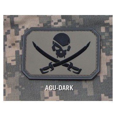 patch velcro pirate skull acud