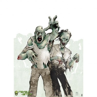 cible geante 2 zombies : 50x70cm