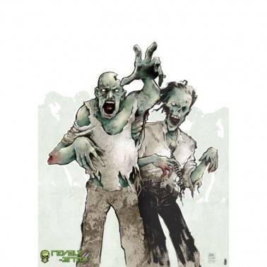 cible geante 2 zombies : 50x70cm