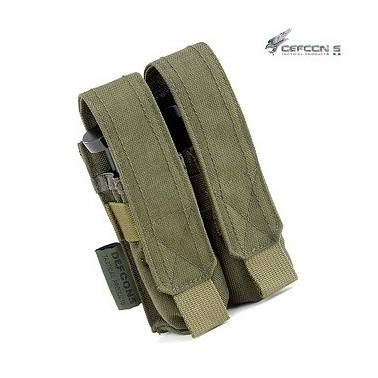 poche molle porte chargeur double 9mm od defcon5 d5-pm02 od
