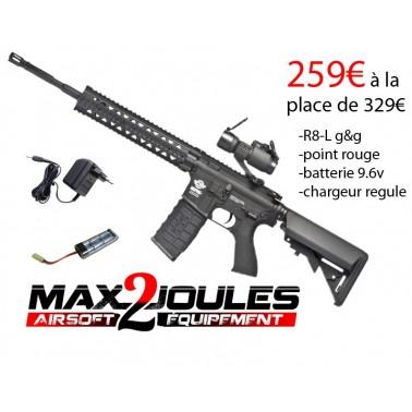 pack promo cm16 r8-L noir + point rouge + batterie 9.6v + chargeur