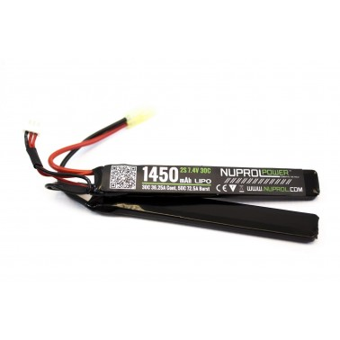 batterie lipo 7.4v / 1450mah 30c 2 elements we nuprol a63241 8054