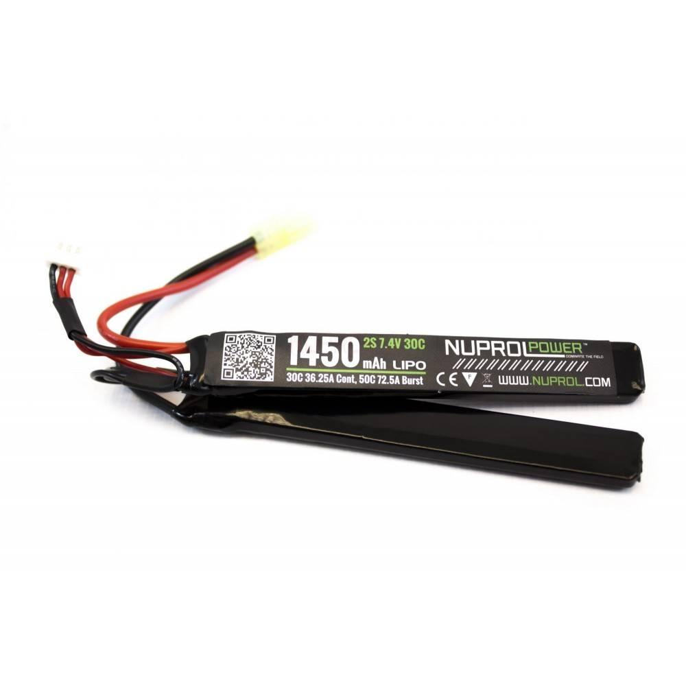 batterie lipo 7.4v / 1450mah 30c 2 elements we nuprol a63241 8054