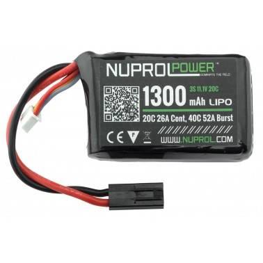 batterie lipo compact peq 11.1v 1300mah 20c we nuprol a69978 8068