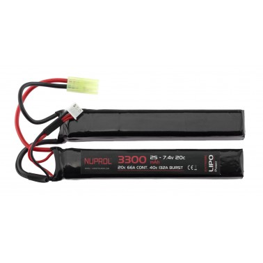 batterie lipo double stick 7.4v 3300 mah 20c a69974 8064