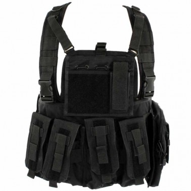 gilet chest rig black noir defcon5 d5-rc901 b